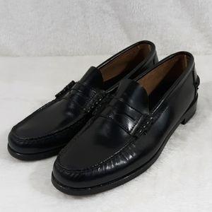 Florsheim black penny loafers mens 9.5 B